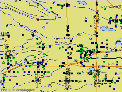 Arvada, Colorado environmental map by EPA