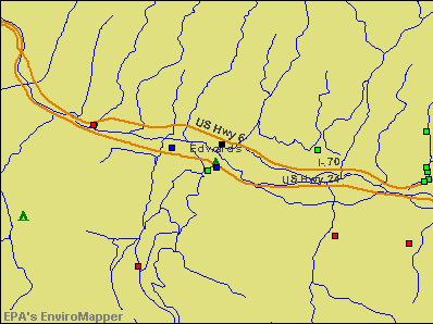 Edwards, Colorado environmental map by EPA