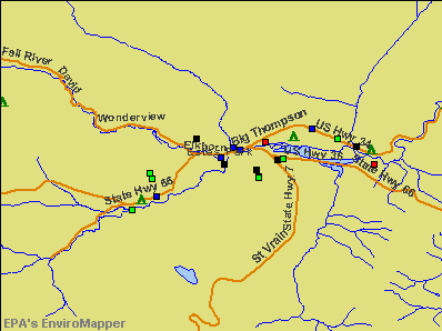 Estes Park, Colorado environmental map by EPA