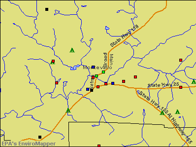 Montevallo, Alabama environmental map by EPA