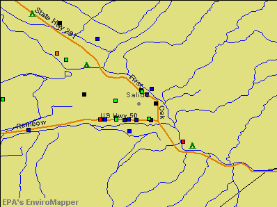 Salida, Colorado environmental map by EPA
