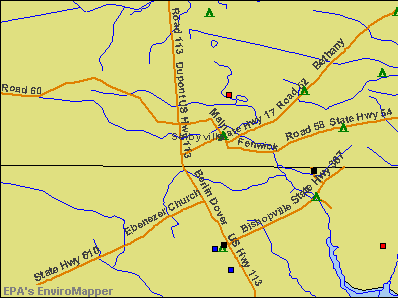Selbyville, Delaware environmental map by EPA