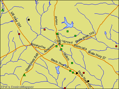 Ozark, Alabama environmental map by EPA