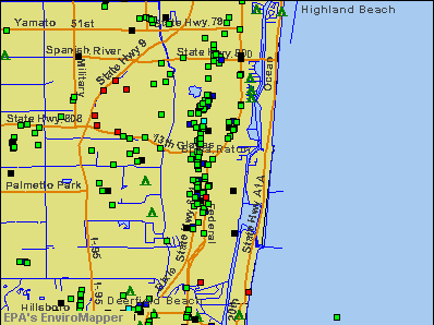 Boca Raton, Florida environmental map by EPA