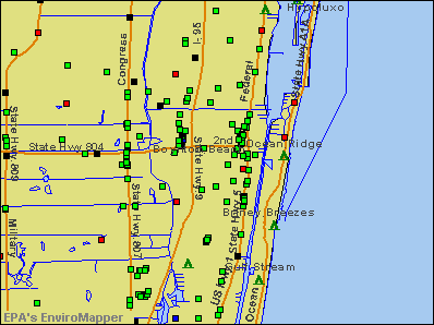 Boynton Beach, Florida environmental map by EPA