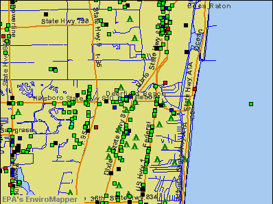 Deerfield Beach, Florida environmental map by EPA