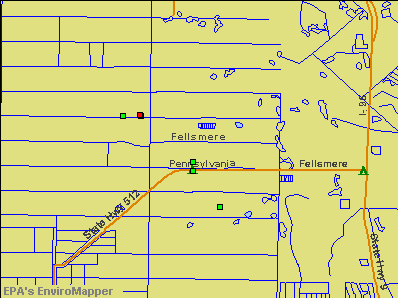 Fellsmere, Florida environmental map by EPA