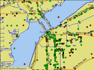 Fort Myers, Florida environmental map by EPA