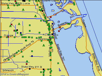 Fort Pierce, Florida environmental map by EPA