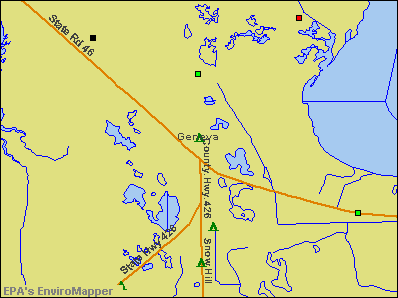 Geneva, Florida environmental map by EPA
