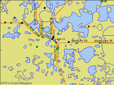 Groveland, Florida environmental map by EPA