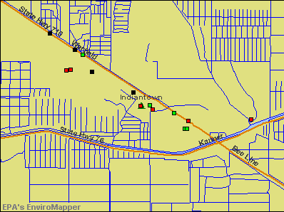 Indiantown, Florida environmental map by EPA