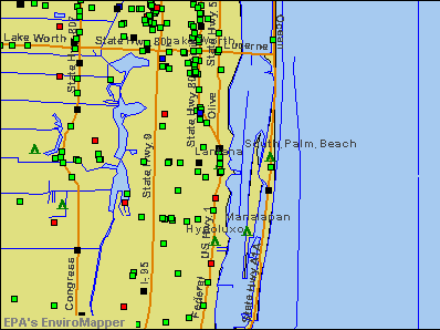 Lantana, Florida environmental map by EPA