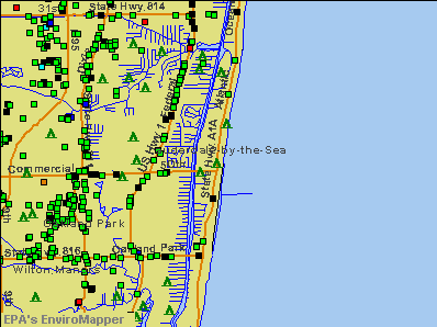 Lauderdale-by-the-Sea, Florida environmental map by EPA