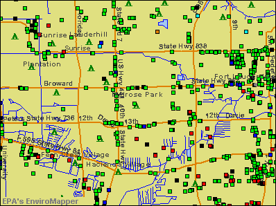 Melrose Park, Florida environmental map by EPA