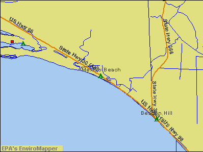 Mexico Beach, Florida environmental map by EPA