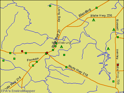 Middleburg, Florida environmental map by EPA
