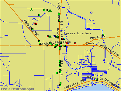 Okeechobee, Florida environmental map by EPA