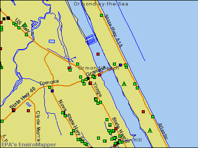 Ormond Beach, Florida environmental map by EPA