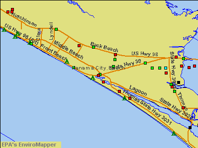 Panama City Beach, Florida environmental map by EPA