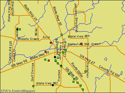 Perry, Florida environmental map by EPA