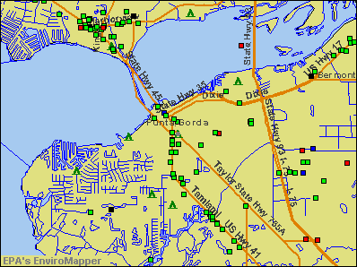 Punta Gorda, Florida environmental map by EPA