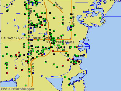St. Petersburg, Florida environmental map by EPA