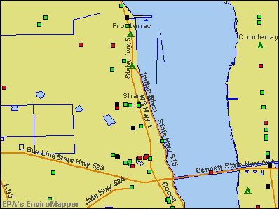 Sharpes, Florida environmental map by EPA