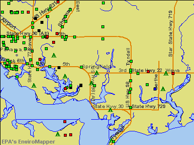 Springfield, Florida environmental map by EPA