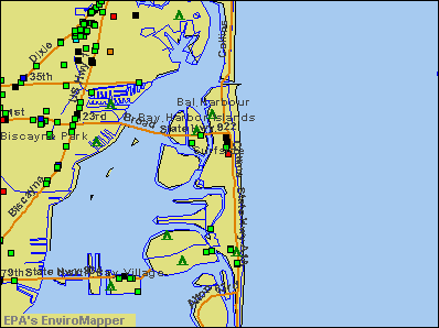 Surfside, Florida environmental map by EPA