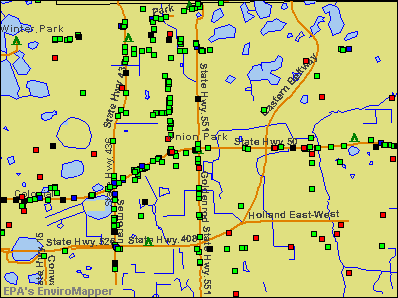 Union Park, Florida environmental map by EPA