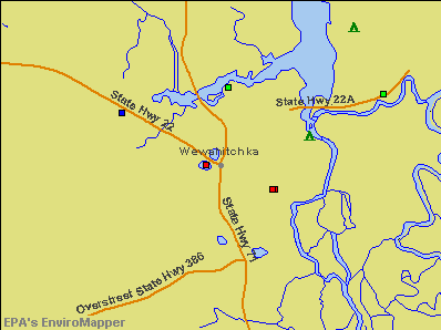 Wewahitchka, Florida environmental map by EPA