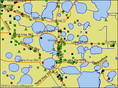 Winter Haven, Florida environmental map by EPA