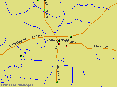 Zolfo Springs, Florida environmental map by EPA