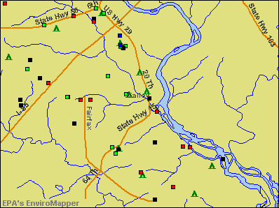 Valley, Alabama environmental map by EPA