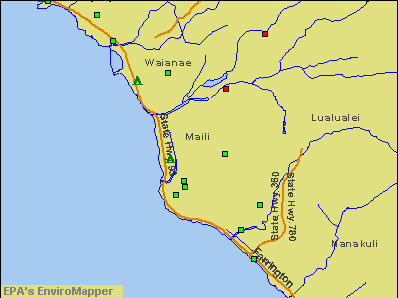 Maili, Hawaii environmental map by EPA