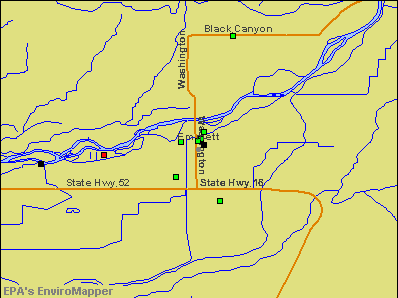 Emmett, Idaho environmental map by EPA