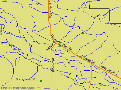 Parma, Idaho environmental map by EPA