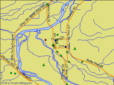 Payette, Idaho environmental map by EPA