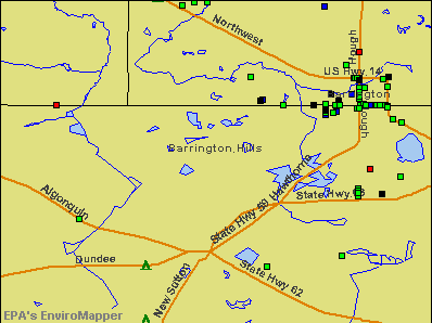 Barrington Hills, Illinois environmental map by EPA
