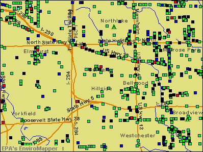 Berkeley, Illinois environmental map by EPA