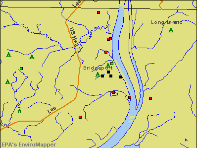 Bridgeport, Alabama environmental map by EPA