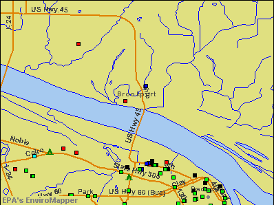 Brookport, Illinois environmental map by EPA