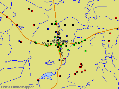 Carbondale, Illinois environmental map by EPA