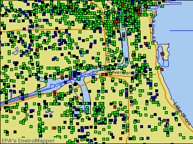 Chicago, Illinois environmental map by EPA
