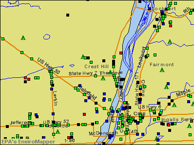 Crest Hill, Illinois environmental map by EPA