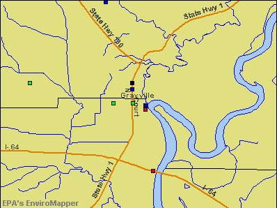 Grayville, Illinois environmental map by EPA