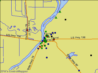 Havana, Illinois environmental map by EPA
