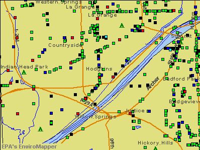 Hodgkins, Illinois environmental map by EPA
