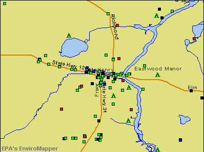 McHenry, Illinois environmental map by EPA